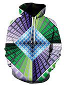 olcso Férfi pólók és pulóverek-Férfi Munkahelyi / Alap Kapucnis felsőrész 3D