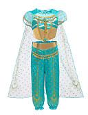 Χαμηλού Κόστους Φορέματα για κορίτσια-Παιδιά Νήπιο Κοριτσίστικα Βίντατζ Ενεργό Halloween Φεστιβάλ Μονόχρωμο Halloween Κοντομάνικο Κοντό Κανονικό Βαμβάκι Σετ Ρούχων Πράσινο του τριφυλλιού