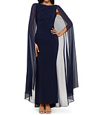 povoljno Večernje haljine-Kroj uz tijelo Ovalni izrez Asimetričan kroj Šifon Formalna večer Haljina s Nabrano po LAN TING Express