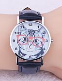 baratos Relógios de quartzo-Mulheres Relógios de Quartzo Fashion Preta Rosa Couro PU Quartzo Preto Rosa Relógio Casual Adorável 1 Pça. Analógico Um ano Ciclo de Vida da Bateria / Aço Inoxidável