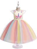 Χαμηλού Κόστους Λουλουδάτα φορέματα για κορίτσια-Γραμμή Α Midi Φόρεμα για Κοριτσάκι Λουλουδιών - POLY Αμάνικο Με Κόσμημα με Εφαρμοστό / Διακοσμητικά