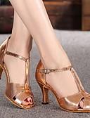 povoljno Ženske haljine-Žene Plesne cipele Eko koža Cipele za latino plesove Štikle Debela peta Zlato / Vježbanje