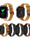 billige Leather Watch Band-ekte skinnbåndstropp for epleur serie 1/2/3/4