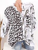 billige Bluser-Skjorte Dame - Leopard Svart