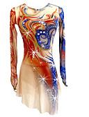 Χαμηλού Κόστους Φόρεμα για παγοδρομία-Φόρεμα για φιγούρες πατινάζ Γυναικεία Κοριτσίστικα Patinaj Φορέματα Ουράνιο Τόξο Ελαστικό Ανταγωνισμός Ενδυμασία πατινάζ Χειροποίητο Κλασσικά Πατινάζ Πάγου Πατινάζ για φιγούρες