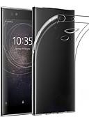 baratos Cases & Capas-Capinha Para Sony Sony XA2 Plus Anti-poeira / Ultra-Fina / Transparente Capa traseira Sólido TPU