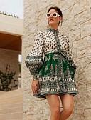 povoljno Svadbeni ukrasi-Žene A kroj Haljina Color block Mini