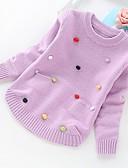 povoljno Kompletići za djevojčice-Djeca Djevojčice Osnovni Jednobojni Dugih rukava Džemper i kardigan purpurna boja