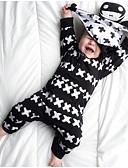 billige BabyGutterdrakter-Baby Gutt Aktiv / Grunnleggende Stripet / Trykt mønster Trykt mønster Langermet Endelt Svart