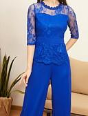 abordables Combinaisons Femme-Femme Noir Vin Bleu Combinaison-pantalon, Couleur Pleine Dentelle S M L