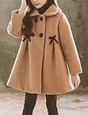 olcso Lány dzsekik és kabátok-Gyerekek Lány Alap Egyszínű Ballon kabát Arcpír rózsaszín