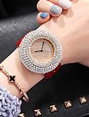 ราคาถูก นาฬิกาข้อมือแฟชั่น-สำหรับผู้หญิง นาฬิกาควอตส์ ญี่ปุ่น นาฬิกาอิเล็กทรอนิกส์ (Quartz) PU Leather ดำ / สีขาว / แดง 50 m โครโนกราฟ น่ารัก ดีไซน์มาใหม่ ระบบอนาล็อก ความหรูหรา มาใหม่ - สีดำ ขาว ทับทิม / สองปี