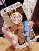 baratos Acessórios para Samsung-Capinha para samsung galaxy s9 / s9 plus / s8 plus / s105g / s10plus / s10 strass / suporte de anel / espelho capa traseira espelho cor sólida tpu