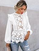 Χαμηλού Κόστους Μπλούζα-Γυναικεία T-shirt Μονόχρωμο Λευκό