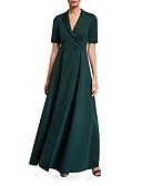 Недорогие Вечерние платья-А-силуэт V-образный вырез В пол Джерси Торжественное мероприятие Платье с Пуговицы от LAN TING Express
