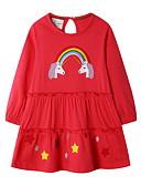 povoljno Jakne i kaputi za djevojčice-Djeca Djevojčice Slatka Style Životinja Haljina Red