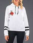 ราคาถูก เสื้อฮู้ดและเสื้อกันหนาวสเว็ตเชิ้ตผู้หญิง-สำหรับผู้หญิง Street Chic ฝ้าย กางเกง ลายพิมพ์ สีดำ / ตก / ฤดูหนาว / ลายปัก
