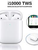 Χαμηλού Κόστους Ασύρματοι φορτιστές-αρχική i10000 tws ασύρματα ακουστικά bluetooth 5.0 ακουστικά έλεγχος αφής φορητά αθλητικά ακουστικά ασύρματα qi
