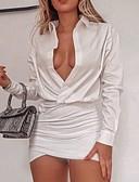 povoljno Nježna čipka-Žene Majica Haljina Jednobojni Mini