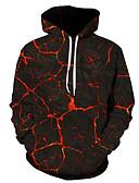 Χαμηλού Κόστους Αντρικές Μπλούζες με Κουκούλα & Φούτερ-Ανδρικά Κομψό στυλ street / Halloween Φούτερ με Κουκούλα - Συνδυασμός Χρωμάτων / 3D