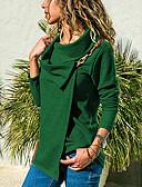 Χαμηλού Κόστους Γιλέκα-Γυναικεία Μεγάλα Μεγέθη T-shirt Μονόχρωμο Κολάρο Πουκαμίσου Κρασί