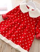 זול שמלות לתינוקות-שמלה שרוול ארוך מנוקד בנות תִינוֹק