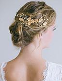 Χαμηλού Κόστους Πέπλα Γάμου-Κράμα με Λεπτομέρεια με πέρλα / Κρύσταλλο / Στρας / Λουλούδι 1 Τεμάχιο Γάμου Headpiece