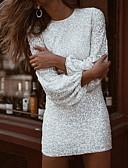baratos Mini Vestidos-Mulheres Tubinho Vestido Sólido Acima do Joelho