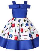 Χαμηλού Κόστους Φορέματα κοκτέιλ-Γραμμή Α Μέχρι το γόνατο Φόρεμα για Κοριτσάκι Λουλουδιών - Πολυεστέρας / Μείγμα Πολυ&Βαμβάκι Αμάνικο Ώμοι Έξω με Σχέδιο / Στάμπα / Καλωσόρισμα
