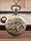 ราคาถูก นาฬิกาพก-สำหรับผู้ชาย นาฬิกาแบบพกพา นาฬิกาอิเล็กทรอนิกส์ (Quartz) สไตล์วินเทจ Creative ดีไซน์มาใหม่ นาฬิกาใส่ลำลอง อะนาล็อก-ดิจิตอล วินเทจ - บรอนซ์
