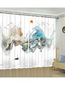 billige Gensere til damer-3D-trykk 3D gardiner To paneler Gardin