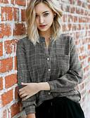 billige Skjorter til damer-Skjorte Dame - Ensfarget Grå