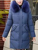 olcso Női hosszú kabátok és parkák-Női Egyszínű Szokványos Kosaras, Poliészter Fekete / Bíbor / Medence XL / XXL / XXXL