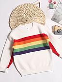 povoljno Džemperi i kardigani za bebe-Dijete Djevojčice Osnovni Prugasti uzorak Dugih rukava Džemper i kardigan Obala