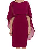 olcso Örömanya ruhák-Szűk szabású Ékszer Térdig érő Sifon Örömanya ruha val vel Ráncolt által LAN TING Express
