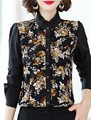 billige Jumpsuits og sparkebukser til damer-Skjorte Dame - Blomstret Chinoiserie Svart