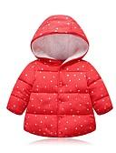olcso Lány dzsekik és kabátok-Gyerekek Lány Utcai sikk Pöttyös Toll és pamuttal bélelt Arcpír rózsaszín