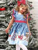 olcso Lány ruhák-Gyerekek Lány Alap Karácsony Ujjatlan Térd feletti Ruha Medence