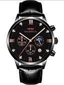 baratos Relógios-Homens envoltório relógio Quartzo Impermeável Calendário Noctilucente Analógico Fashion