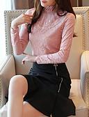 billige Robes & Sleepwear-Skjorte Dame - Blomstret, Blonde / Lapper Vintage / Elegant Svart