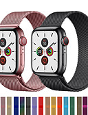 baratos Bandas de Smartwatch-Pulseira de relógio de loop milanês pulseira para apple watch series 5/4/3/2/1 pulseira de pulseira de aço inoxidável substituível