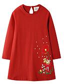 povoljno Haljine za djevojčice-Djeca Djevojčice Cvjetni print Božić Haljina Red
