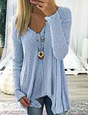 billige Tights til damer-V-hals T-skjorte Dame - Ensfarget Svart