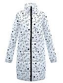 olcso Női hosszú kabátok és parkák-Női Egyszínű Hosszú Anorák, POLY Fehér S / M / L