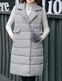 olcso Női hosszú kabátok és parkák-Női Egyszínű Prsluk, Poliészter / POLY Fekete / Lóhere / Szürke M / L / XL