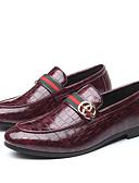 ราคาถูก เบลเซอร์ &สูทผู้ชาย-สำหรับผู้ชาย รองเท้าอย่างเป็นทางการ PU ฤดูร้อนฤดูใบไม้ผลิ / ฤดูใบไม้ร่วง & ฤดูหนาว ธุรกิจ / ไม่เป็นทางการ รองเท้าส้นเตี้ยทำมาจากหนังและรองเท้าสวมแบบไม่มีเชือก วสำหรับเดิน ระบายอากาศ / พรรคและเย็น