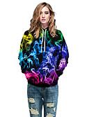 Χαμηλού Κόστους Γυναικείες Μπλούζες με Κουκούλα & Φούτερ-Γυναικεία Καθημερινό Φούτερ με Κουκούλα - 3D