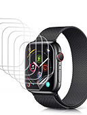 Χαμηλού Κόστους Βάσεις και κάτοχοι Smartwatch-Προστατευτικό οθόνης 5 φύλλων για τη σειρά ρολογιών μήλων 5 4 3 2 1 Προστατευτικό φιλμ για την προστασία από φυσαλίδες hd Clear HD