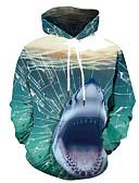 olcso Férfi pólók és pulóverek-Férfi Alkalmi / Utcai sikk Kapucnis felsőrész 3D