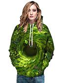 povoljno Ženske majice s kapuljačama i trenirke-Žene Osnovni / Ulični šik Hoodie Geometrijski oblici / 3D / Lik